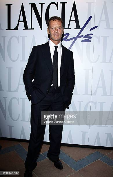 Rocco Siffredi attends the La Talpa Vanity Fair Party at Lancia Cafe on September 5 2011 in Venice Italy