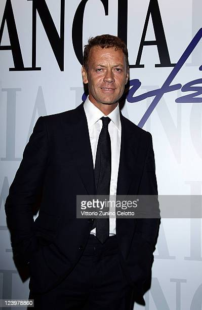 Rocco Siffredi attends the 'La Talpa' Vanity Fair Party at Lancia Cafe on September 5 2011 in Venice Italy