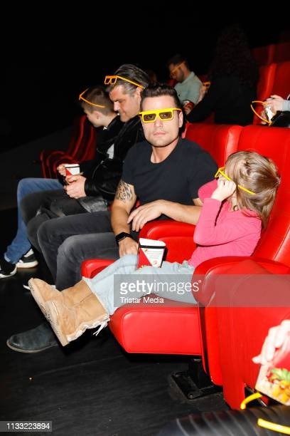 Rocco Stark and his daughter Amelia Stark attend the premiere of the film LEGO City Cops In Action at LEGOLAND Discovery Center Berlin on March 27...