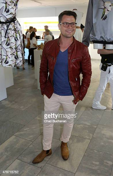 Rocco Stark attends the Shaun Ross Nina Athanasiou Vernissage opening on July 6 2015 in Berlin Germany