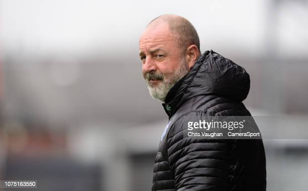 Rochdale manager Keith Hill during the Sky Bet League One match between Rochdale and Blackpool at Spotland Stadium on December 26 2018 in Rochdale...