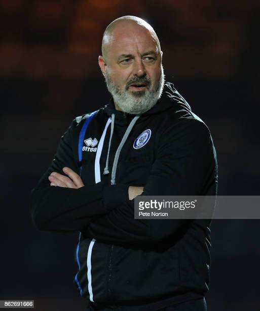 Rochdale Manager Keith Hill looks on prior to the Sky Bet League One match between Rochdale and Northampton Town at Spotland Stadium on October 17...