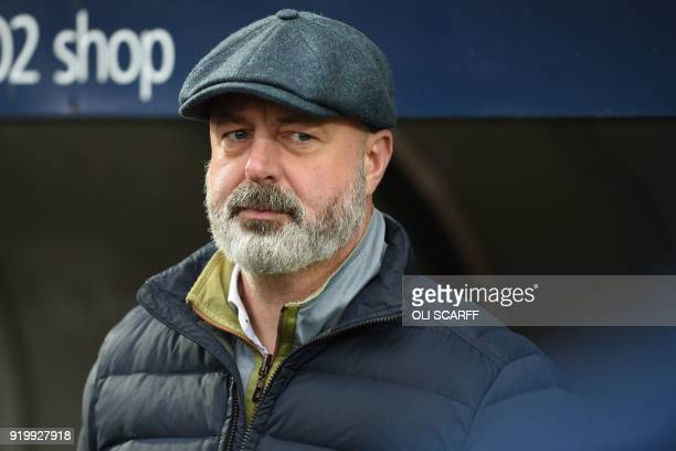 Rochdale's English manager Keith Hill awaits kick off in the English FA Cup fifth round football match between Rochdale and Tottenham Hotspur at the...