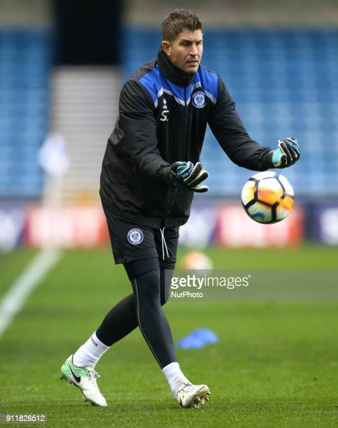 Rochdale's Goalkeeping coach Steve Collis during FA Cup 4th Round match between Millwall against Rochdale at The Den London on 27 Jan 2018