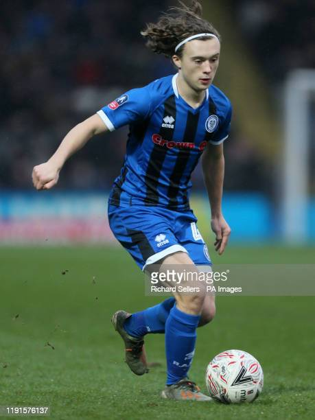 Rochdale's Luke Matheson during the FA Cup third round match at The Crown Oil Arena, Rochdale.
