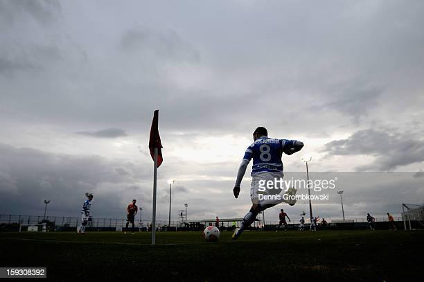 Rochdi Achenteh of Zwolle during a corner kick during a friendly match between Werder Bremen and PEC Zwolle on January 11 2013 in Belek Turkey