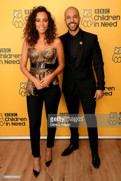 Rochelle and Marvin Humes backstage at BBC Children In Need's 2018 appeal night at Elstree Studios on November 16 2018 in Borehamwood England