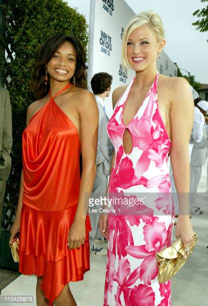 Rochelle Aytes and Maitland Ward during White Chicks Los Angeles Premiere White Carpet at Mann Village in Westwood California United States