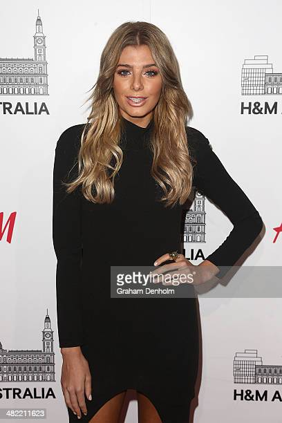 Rochelle Fox attends the VIP launch party for HM Australia at the GPO on April 3 2014 in Melbourne Australia