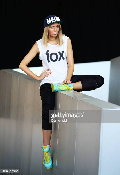 Rochelle Fox wears a top by Wildfox pants by Faboo Jeremy Scott Adidas shoes and Aiden cap at MercedesBenz Fashion Week Australia Spring/Summer...