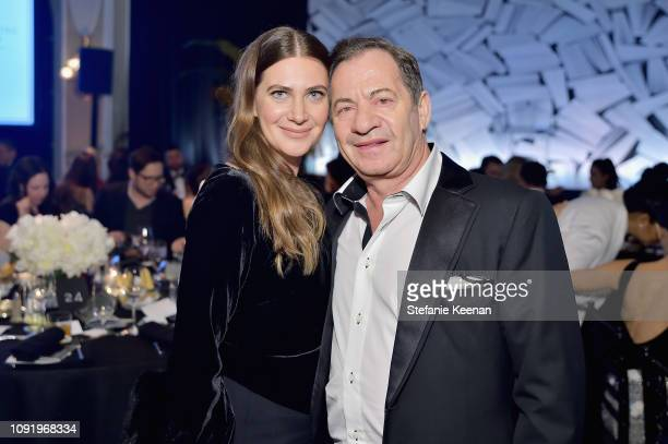 Rochelle Gores Fredston and Alec Gores attend Learning Lab Ventures 2019 Gala Presented by Farfetch at Beverly Hills Hotel on January 31 2019 in...