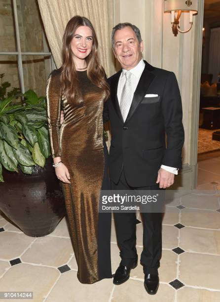 Rochelle Gores Fredston and Alec Gores attend Learning Lab Ventures Gala in Partnership with NETAPORTER on January 25 2018 in Beverly Hills California
