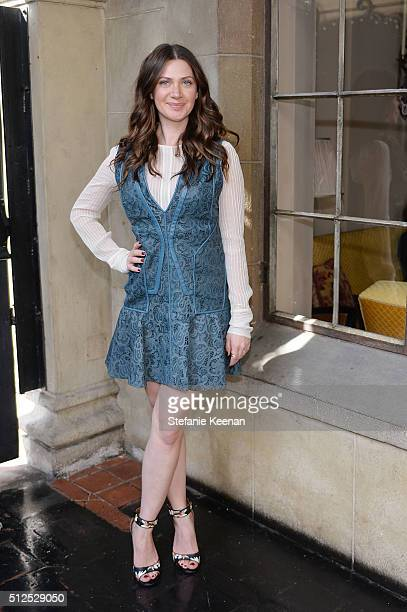 Rochelle Gores Fredston attends NETAPORTER Celebrates Women Behind The Lens at Chateau Marmont on February 26 2016 in Los Angeles California