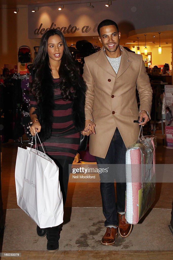 Rochelle And Marvin Humes Sighting In Watford - January 28, 2013