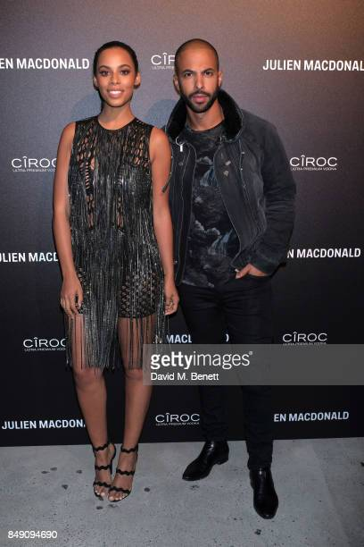 Rochelle Humes and Marvin Humes attend Julien Macdonald Spring Summer 2018 Show sponsored by Ciroc at The Bankside Vaults on September 18 2017 in...