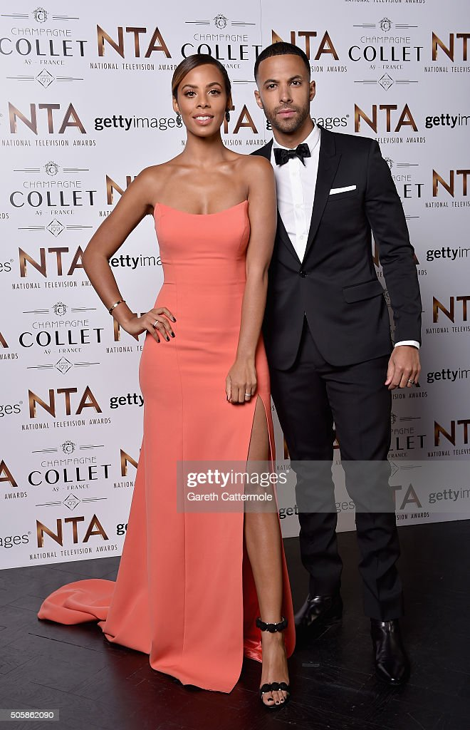 Rochelle Humes and Marvin Humes attend the 21st National Television Awards at The O2 Arena on January 20, 2016 in London, England.