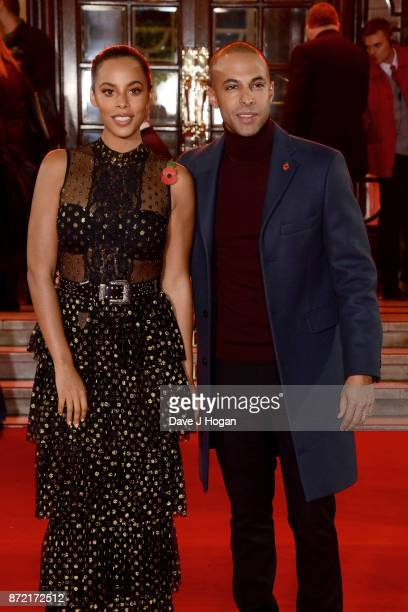 Rochelle Humes and Marvin Humes attend the ITV Gala held at the London Palladium on November 9 2017 in London England