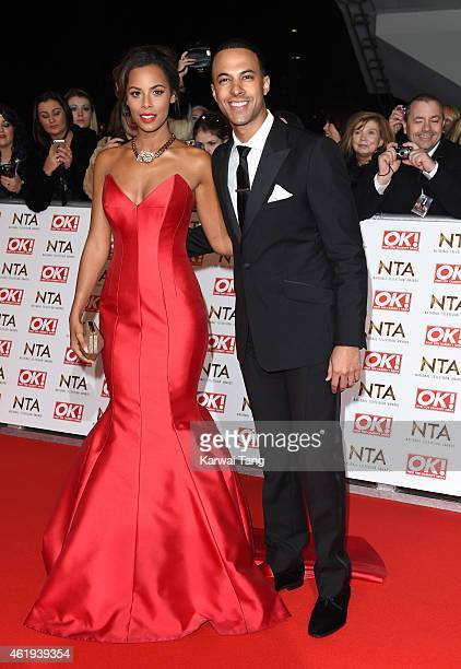 Rochelle Humes and Marvin Humes attend the National Television Awards at 02 Arena on January 21 2015 in London England