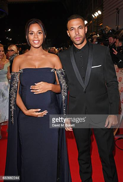 Rochelle Humes and Marvin Humes attend the National Television Awards on January 25 2017 in London United Kingdom