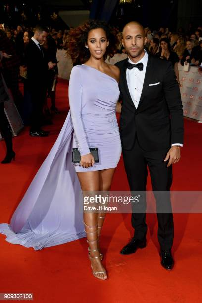 Rochelle Humes and Marvin Humes attend the National Television Awards 2018 at The O2 Arena on January 23 2018 in London England