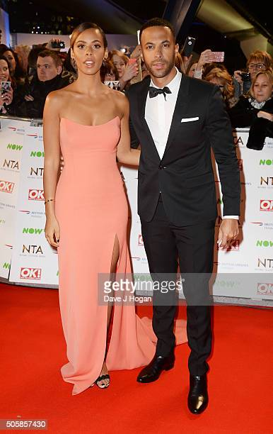 Rochelle Humes and Marvin Humes attends the 21st National Television Awards at The O2 Arena on January 20 2016 in London England
