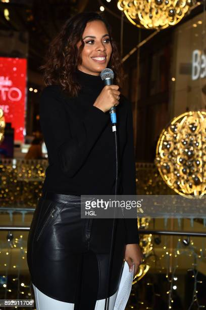 Rochelle Humes and Marvin Humes join Costa Coffee employees in an attempt to achieve the Guinness World Records titles for most couples kissing under...