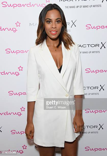 Rochelle Humes appears exclusively in Superdrug Lakeside for her next look with Max Factor 'Pool Side Glamour' wearing her new VERY collection at...