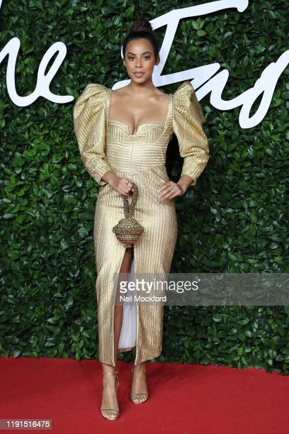 Rochelle Humes arrives at The Fashion Awards 2019 held at Royal Albert Hall on December 02, 2019 in London, England.