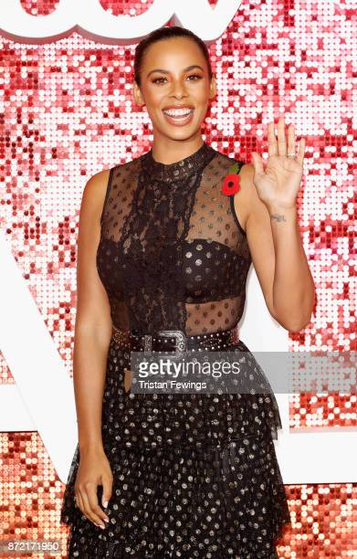 Rochelle Humes arriving at the ITV Gala held at the London Palladium on November 9 2017 in London England