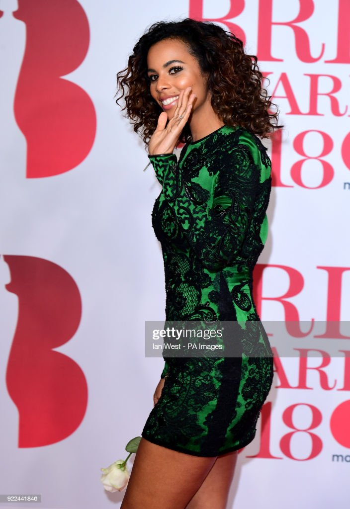 Rochelle Humes attending the Brit Awards at the O2 Arena, London