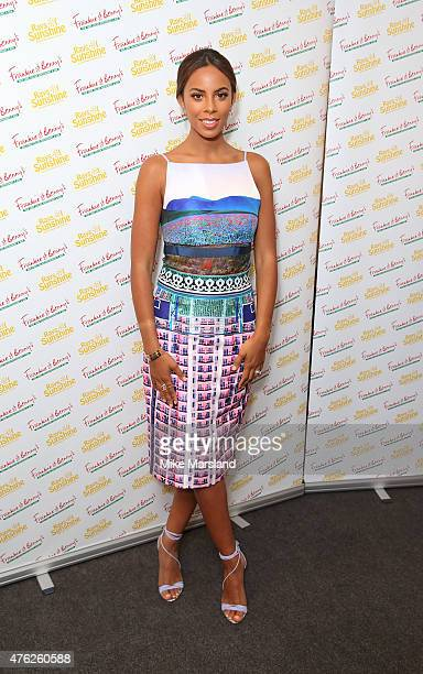 Rochelle Humes attends Frankie And Benny's Rays Of Sunshine Concert at Royal Albert Hall on June 7 2015 in London England