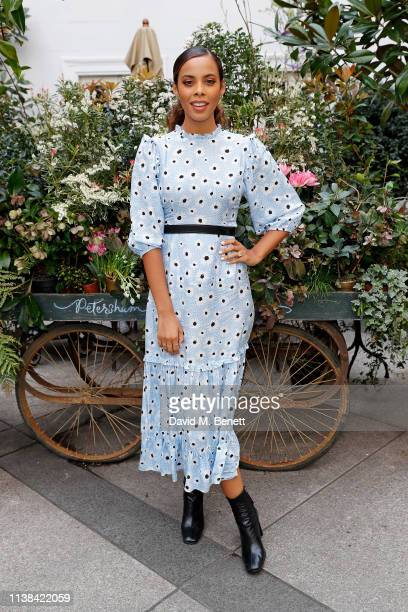 Rochelle Humes attends Peanut afternoon tea in support of mothers2mothers on March 26 2019 in London England