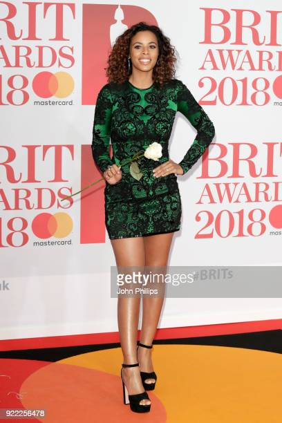 AWARDS 2018*** Rochelle Humes attends The BRIT Awards 2018 held at The O2 Arena on February 21 2018 in London England