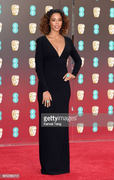 Rochelle Humes attends the EE British Academy Film Awards held at the Royal Albert Hall on February 18 2018 in London England