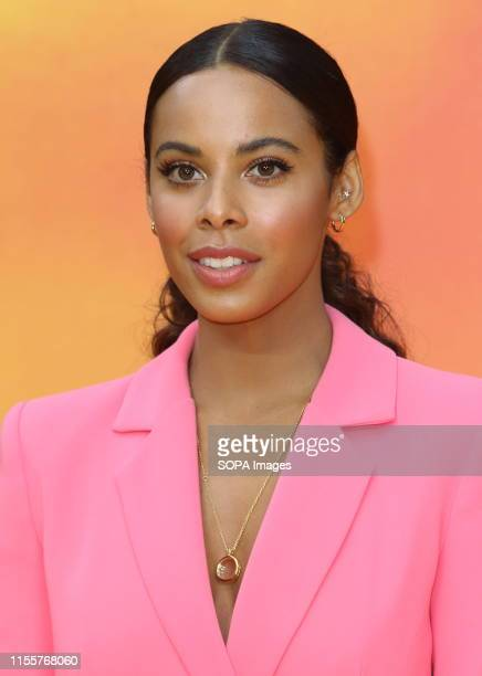 Rochelle Humes attends the European Premiere of Disney's The Lion King at the Odeon Luxe cinema Leicester Square in London