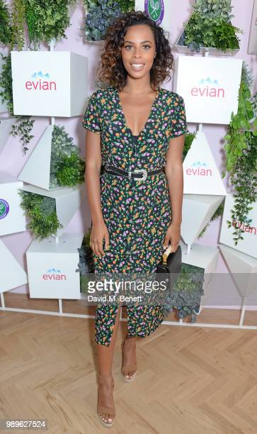 Rochelle Humes attends the evian Live Young Suite at The Championship at Wimbledon on July 2 2018 in London England