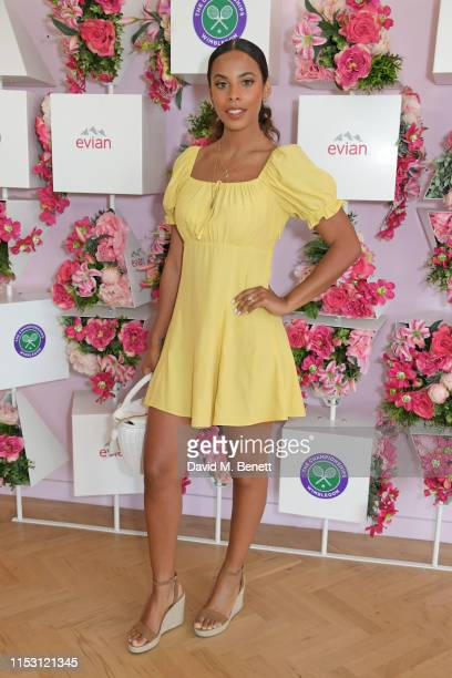Rochelle Humes attends the evian Live Young suite at The Championships Wimbledon 2019 on July 1 2019 in Wimbledon England