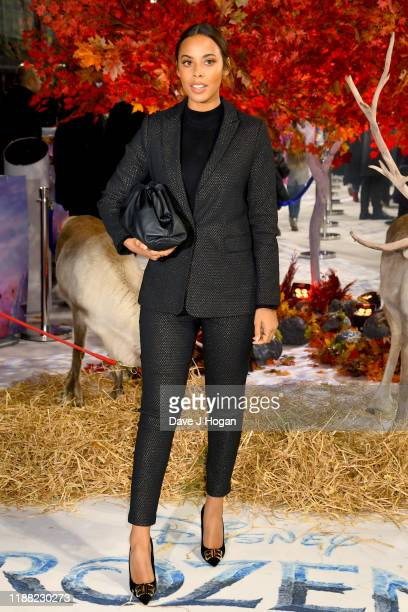 Rochelle Humes attends the Frozen 2 European premiere at BFI Southbank on November 17 2019 in London England