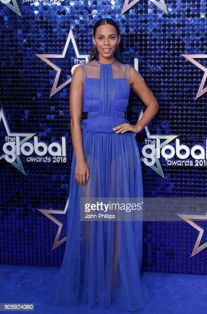 Rochelle Humes attends The Global Awards 2018 at Eventim Apollo Hammersmith on March 1 2018 in London England
