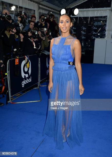 Rochelle Humes attends The Global Awards a brand new awards show hosted by Global the Media Entertainment Group at Eventim Apollo Hammersmith on...