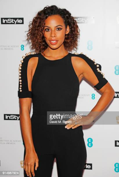 Rochelle Humes attends the InStyle EE Rising Star Party at Granary Square on February 6 2018 in London England