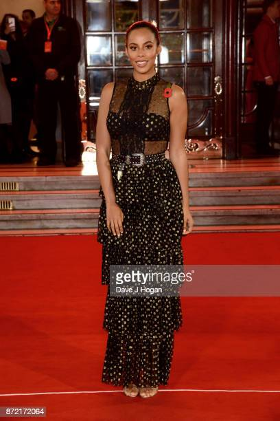 Rochelle Humes attends the ITV Gala held at the London Palladium on November 9 2017 in London England