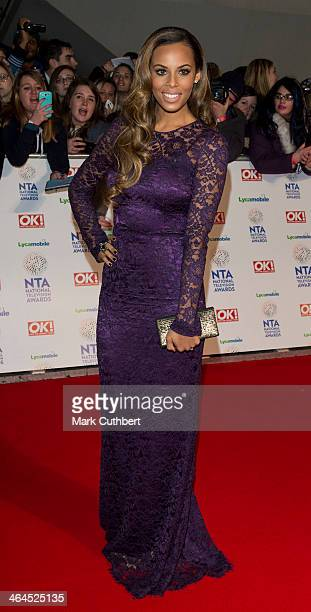 Rochelle Humes attends the National Television Awards at 02 Arena on January 22, 2014 in London, England.