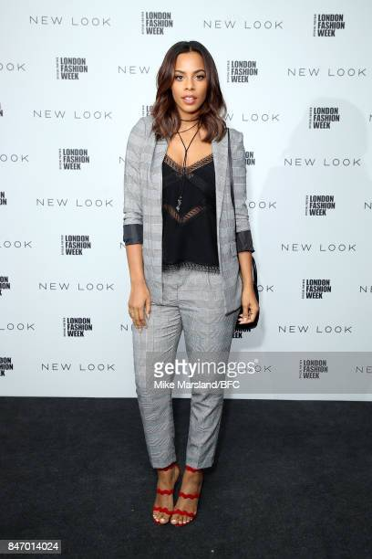 Rochelle Humes attends the New Look and the British Fashion Council LFW Launch Party during London Fashion Week September 2017 on September 14 2017...