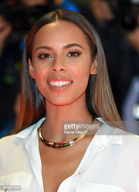 Rochelle Humes attends the press launch of The X Factor at the Picturehouse Central on August 26 2015 in London England