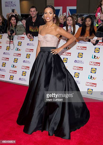 Rochelle Humes attends the Pride of Britain awards at The Grosvenor House Hotel on September 28 2015 in London England