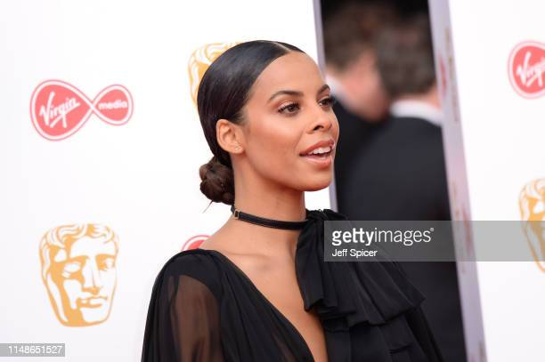 Rochelle Humes attends the Virgin Media British Academy Television Awards 2019 at The Royal Festival Hall on May 12 2019 in London England