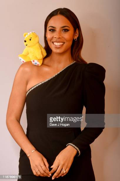 Rochelle Humes backstage at BBC Children in Need's 2019 Appeal night at Elstree Studios on November 15 2019 in Borehamwood England
