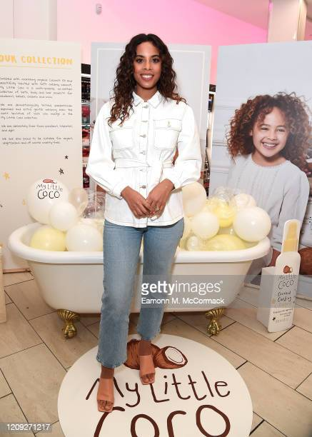 Rochelle Humes instore Boots appearance for NEW Baby Brand 'My Little Coco' on February 28, 2020 in London, England.