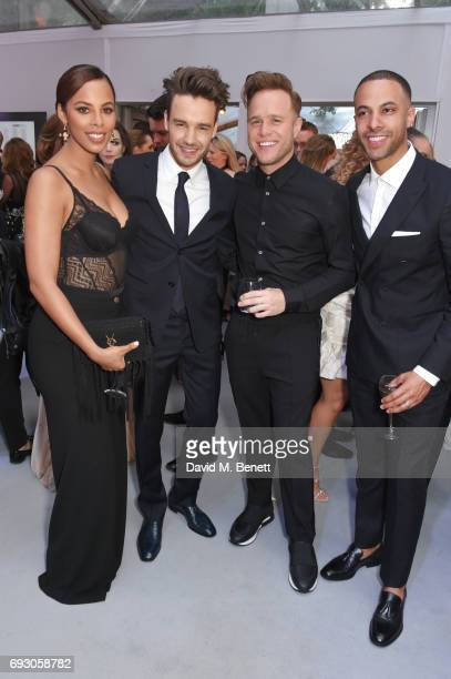 Rochelle Humes Liam Payne Olly Murs and Marvin Humes attend the Glamour Women of The Year Awards 2017 in Berkeley Square Gardens on June 6 2017 in...